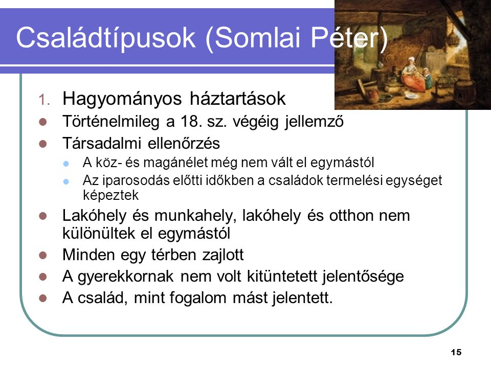Családtípusok (Somlai Péter)