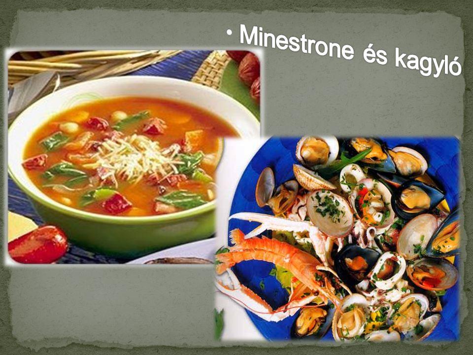 Minestrone és kagyló