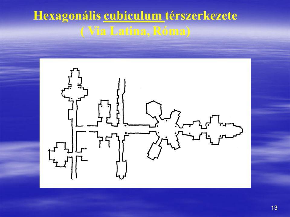 Hexagonális cubiculum térszerkezete