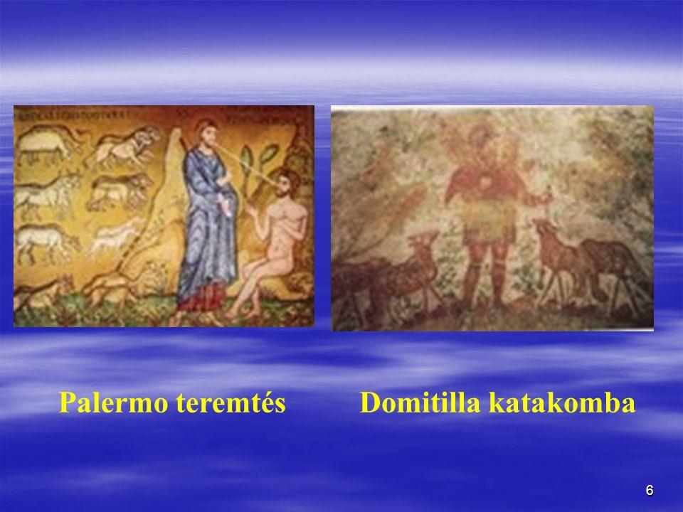 Palermo teremtés Domitilla katakomba