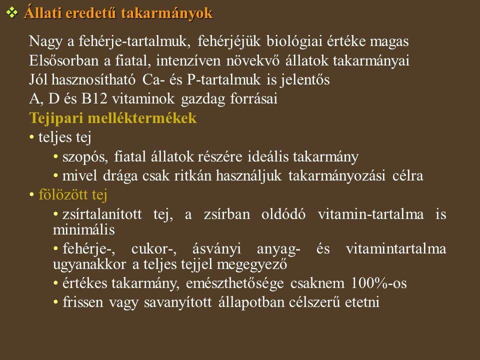 Állati eredetű takarmányok