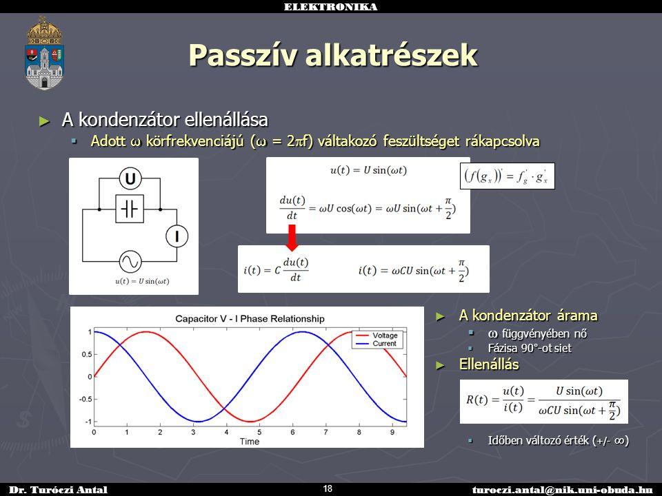 Passzív alkatrészek A kondenzátor ellenállása