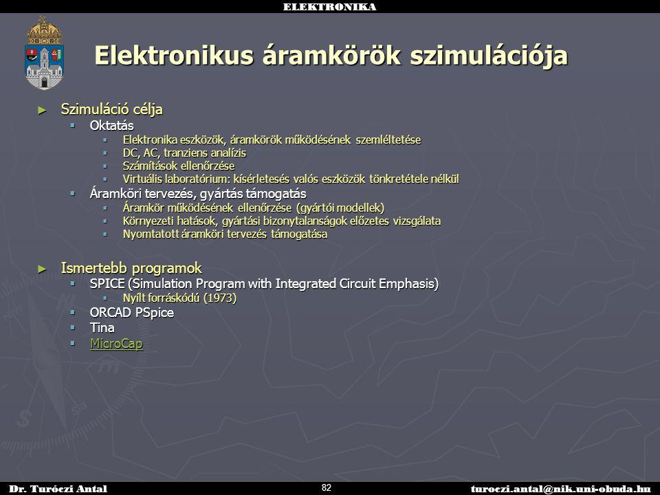 Elektronikus áramkörök szimulációja