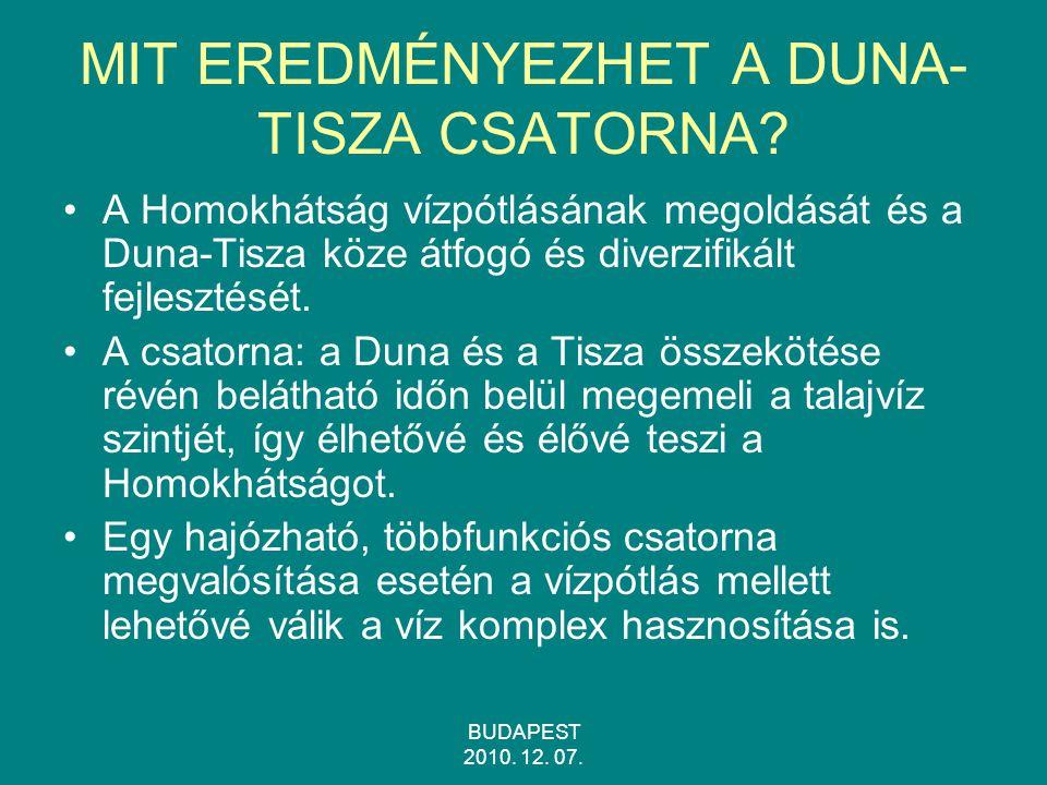 MIT EREDMÉNYEZHET A DUNA-TISZA CSATORNA