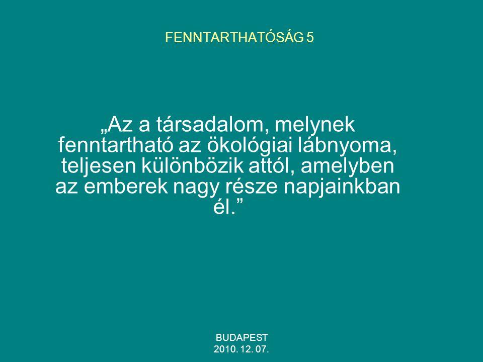 FENNTARTHATÓSÁG 5