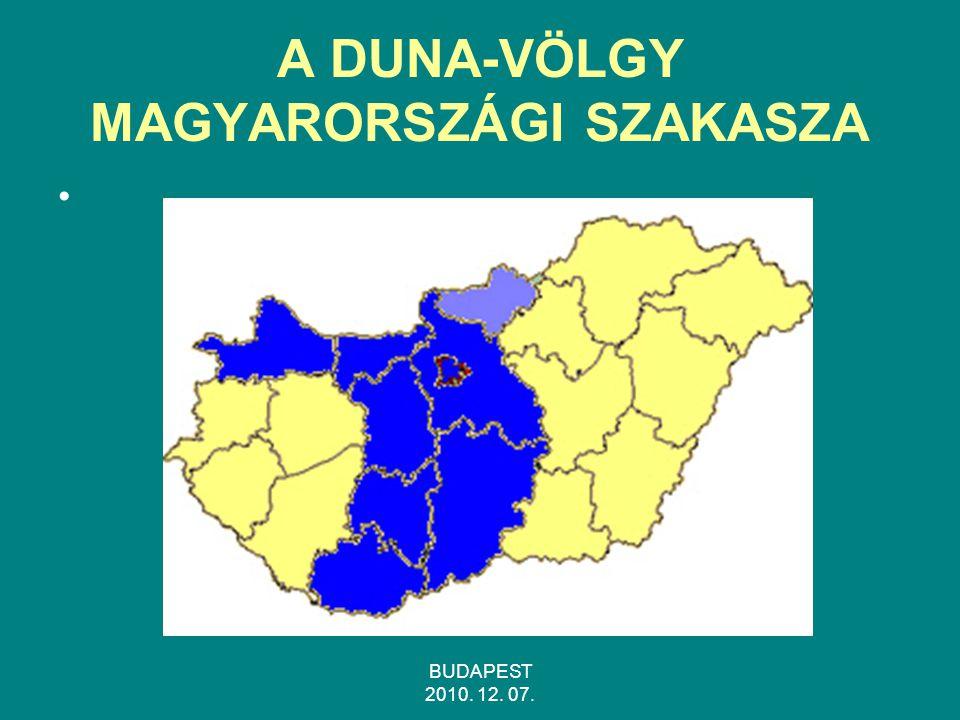A DUNA-VÖLGY MAGYARORSZÁGI SZAKASZA