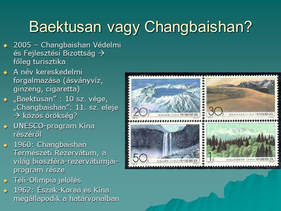 Baektusan vagy Changbaishan