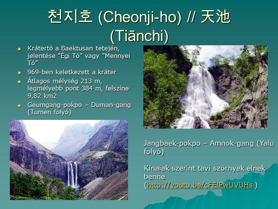 천지호 (Cheonji-ho) // 天池 (Tiānchi)