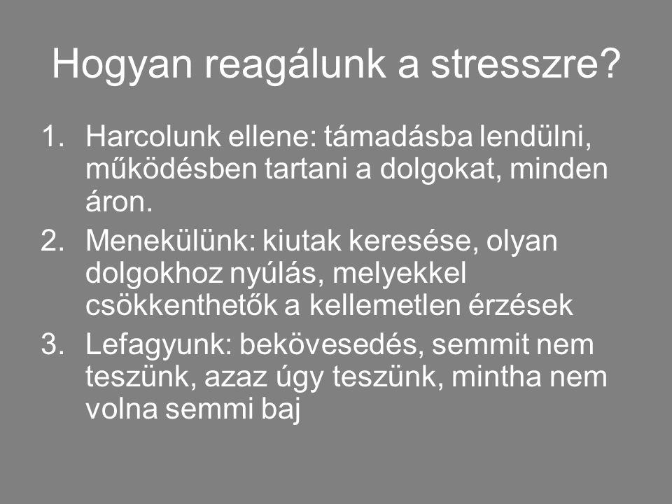Hogyan reagálunk a stresszre