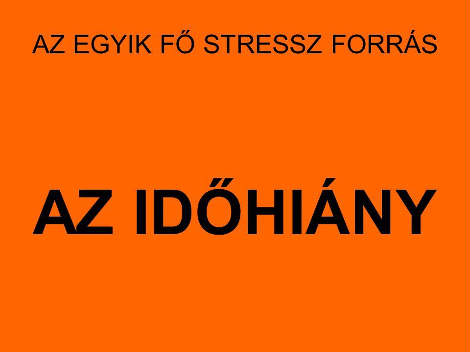AZ EGYIK FŐ STRESSZ FORRÁS