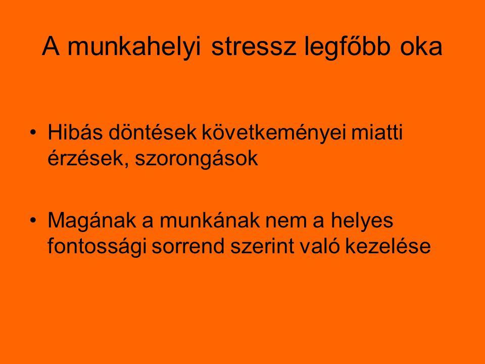 A munkahelyi stressz legfőbb oka