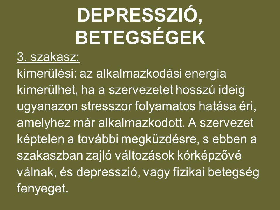 DEPRESSZIÓ, BETEGSÉGEK
