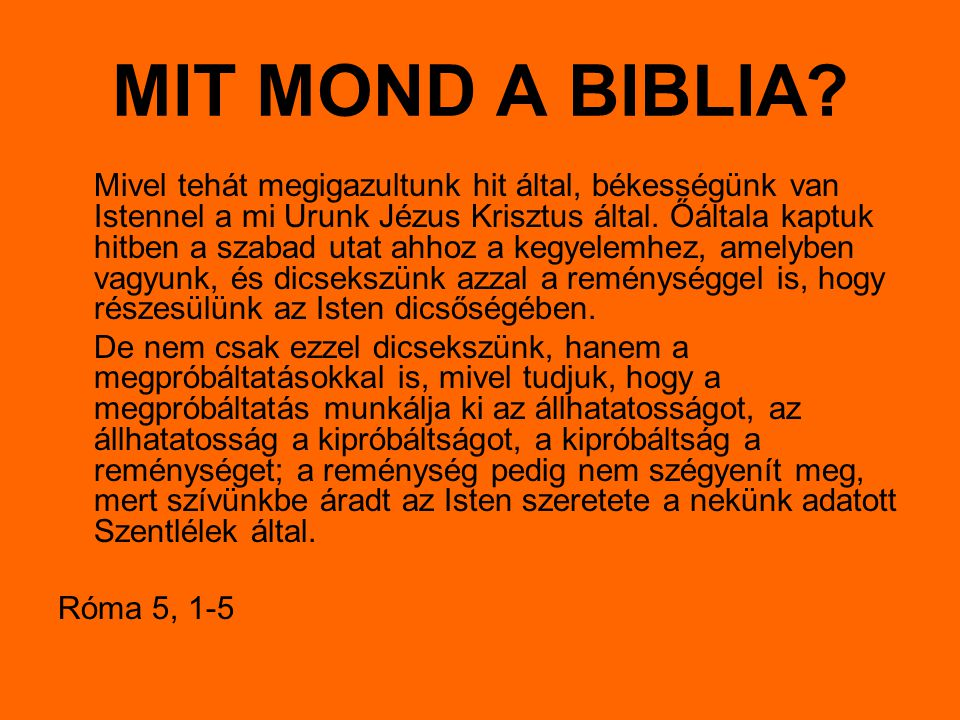 MIT MOND A BIBLIA