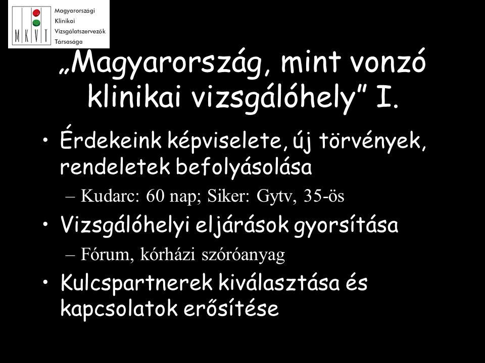"""""""Magyarország, mint vonzó klinikai vizsgálóhely I."""