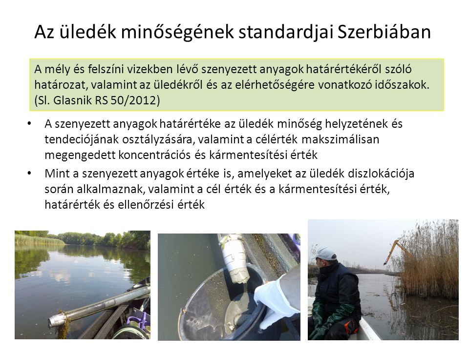 Az üledék minőségének standardjai Szerbiában