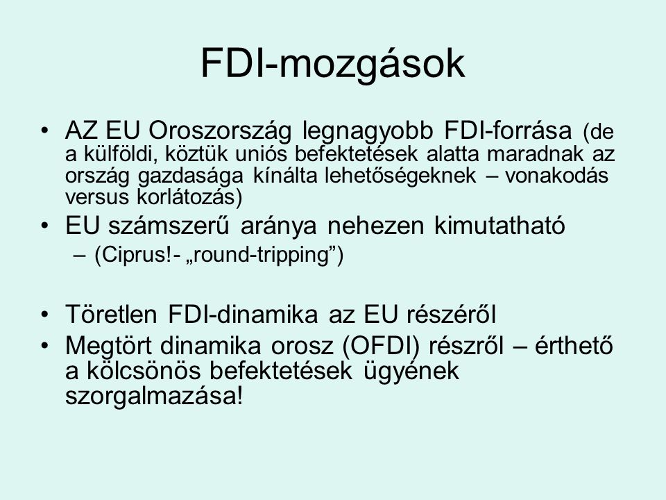 FDI-mozgások