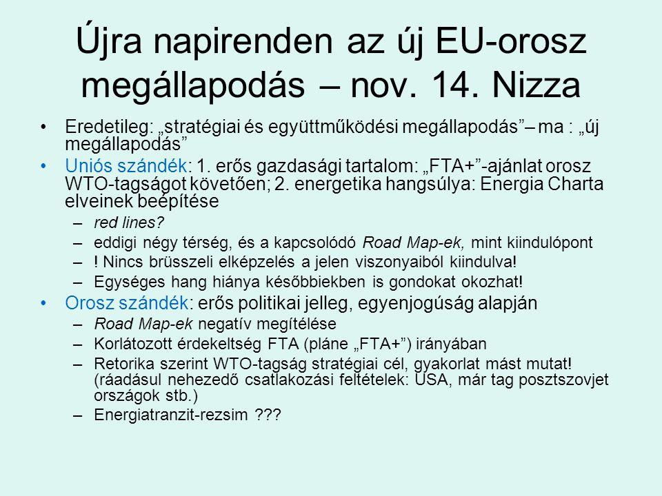 Újra napirenden az új EU-orosz megállapodás – nov. 14. Nizza