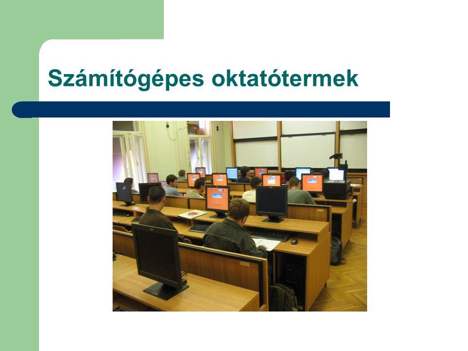 Számítógépes oktatótermek