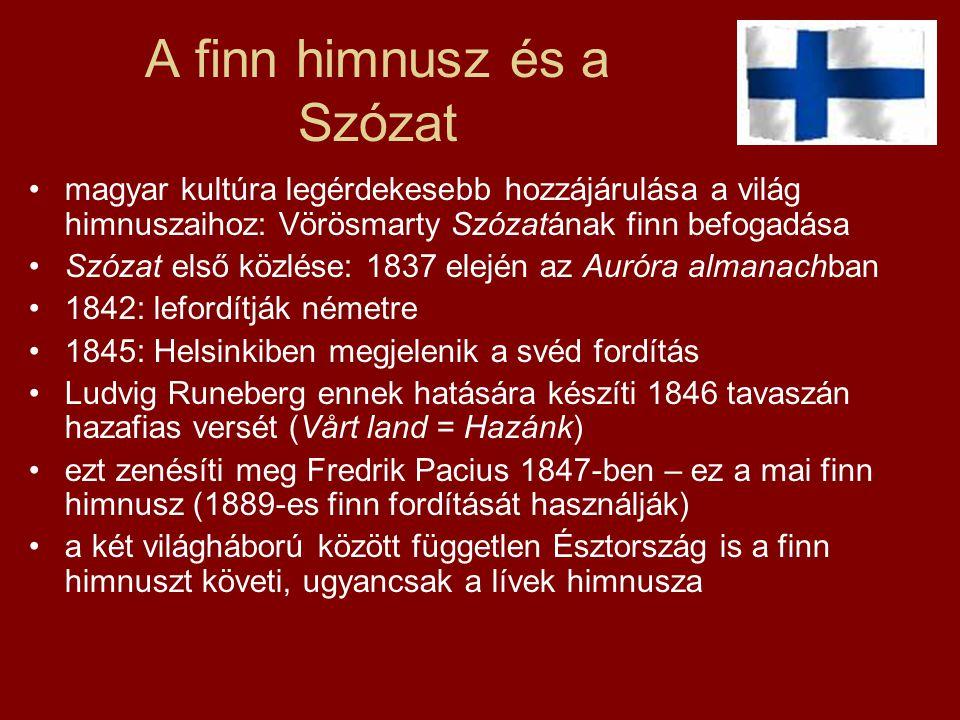 A finn himnusz és a Szózat
