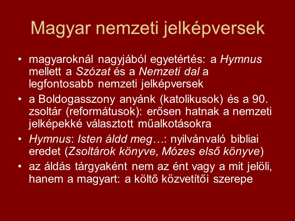 Magyar nemzeti jelképversek