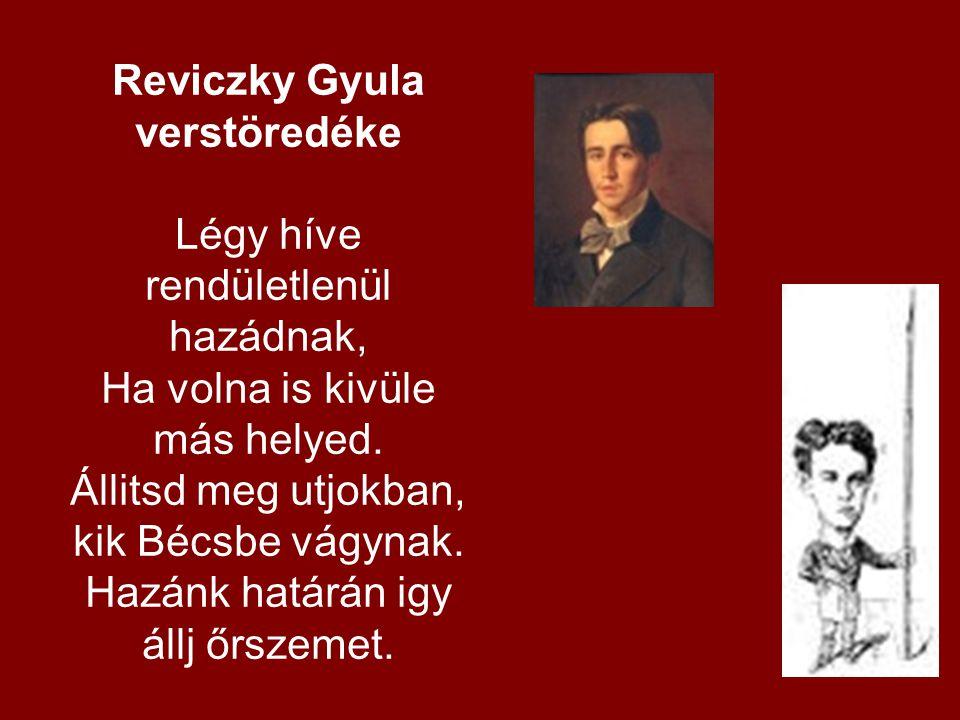 Reviczky Gyula verstöredéke