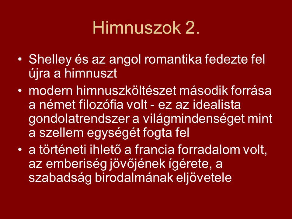 Himnuszok 2. Shelley és az angol romantika fedezte fel újra a himnuszt