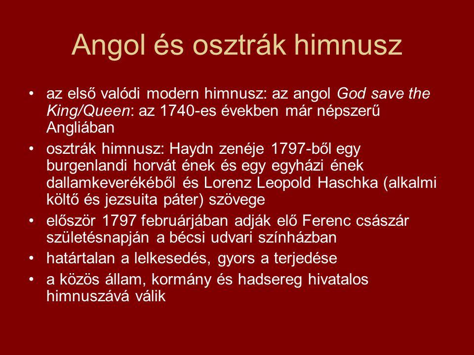 Angol és osztrák himnusz