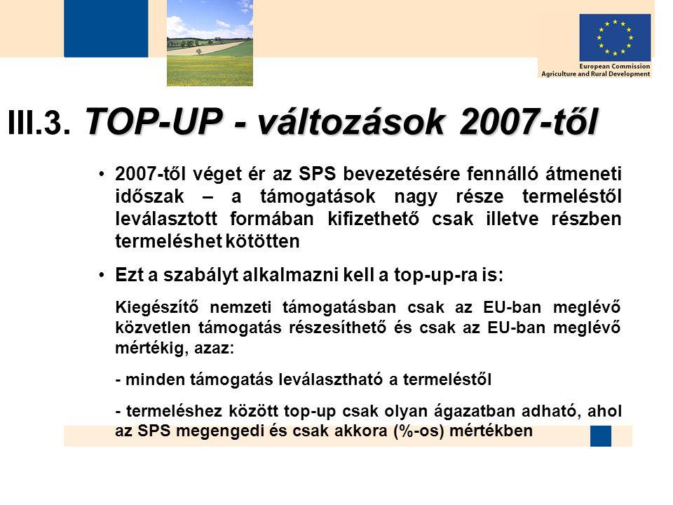 III.3. TOP-UP - változások 2007-től
