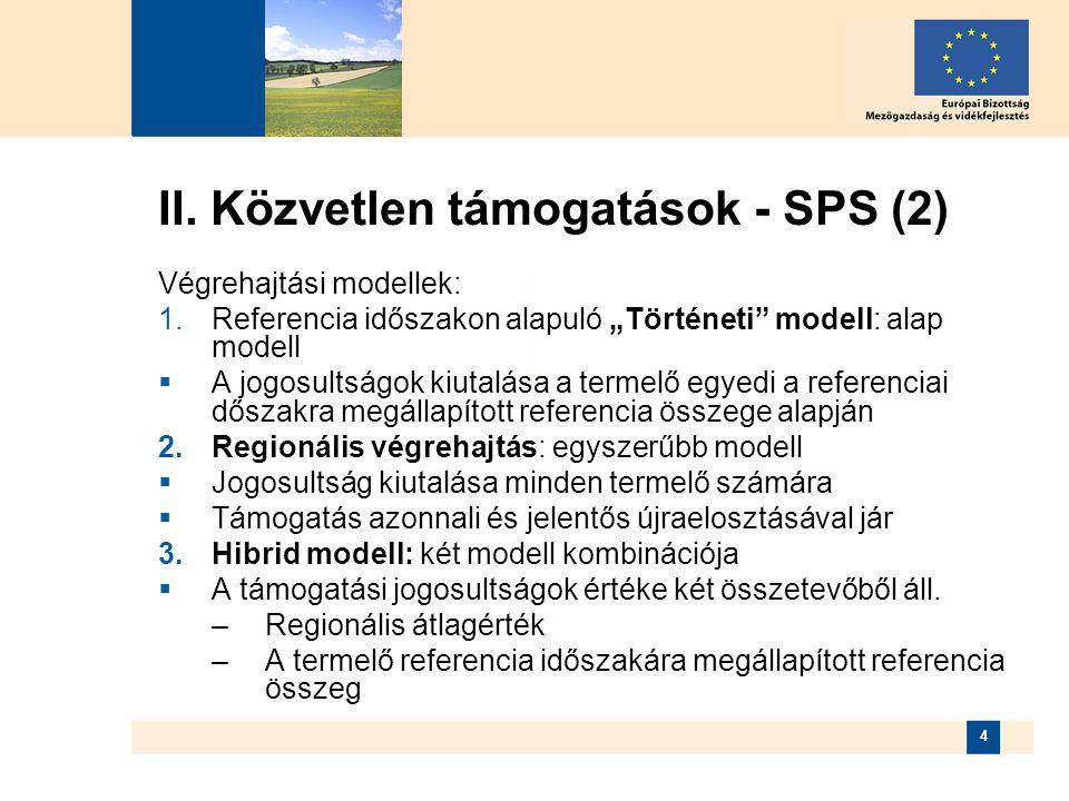 II. Közvetlen támogatások - SPS (2)
