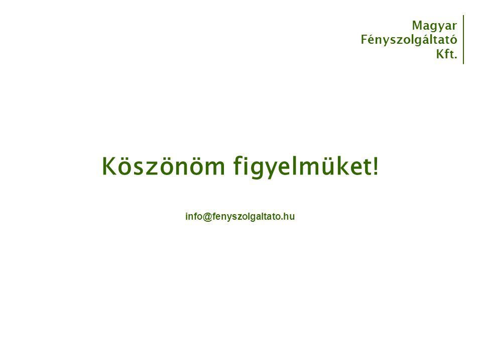 Köszönöm figyelmüket! info@fenyszolgaltato.hu