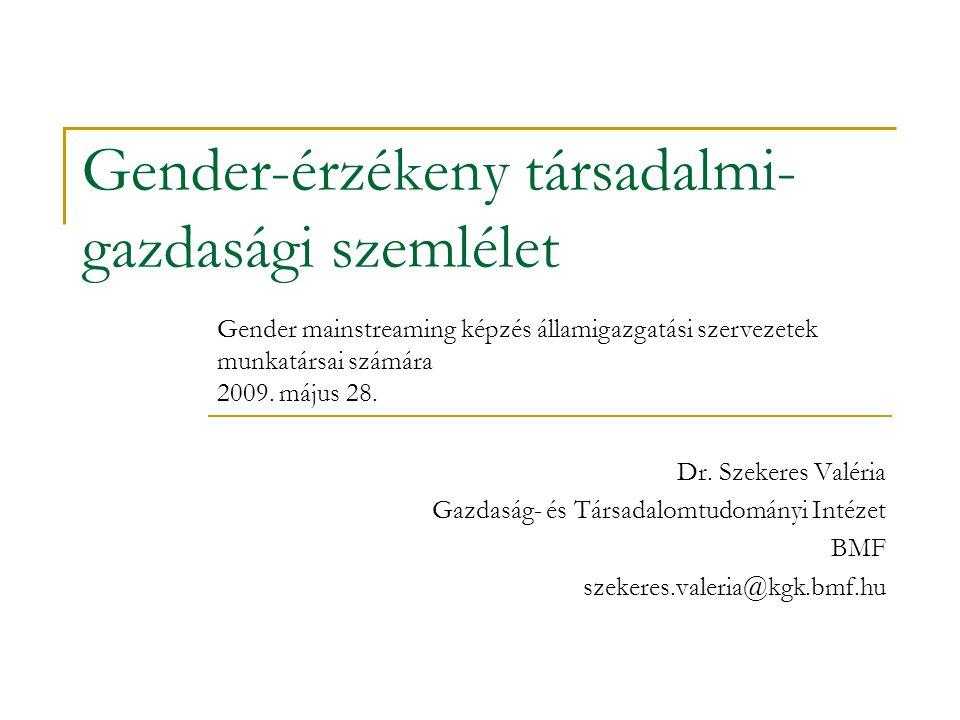 Gender-érzékeny társadalmi-gazdasági szemlélet