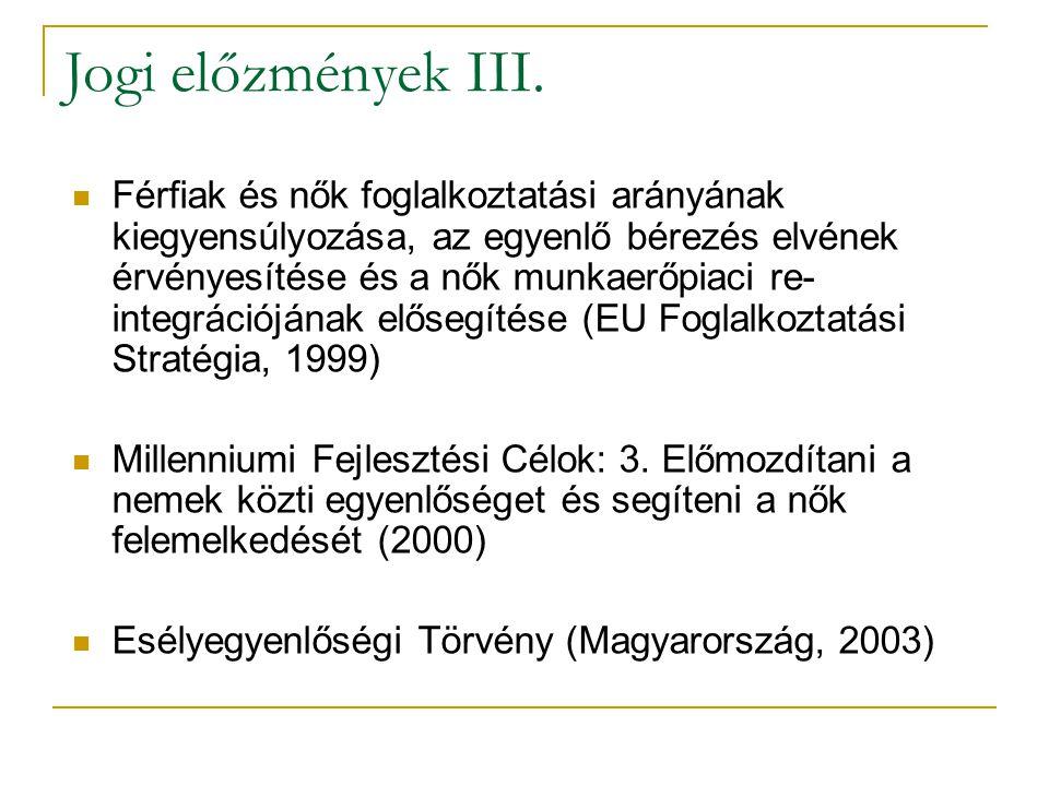 Jogi előzmények III.
