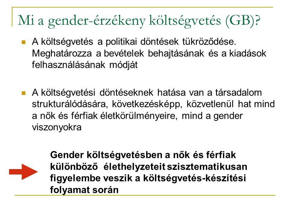 Mi a gender-érzékeny költségvetés (GB)