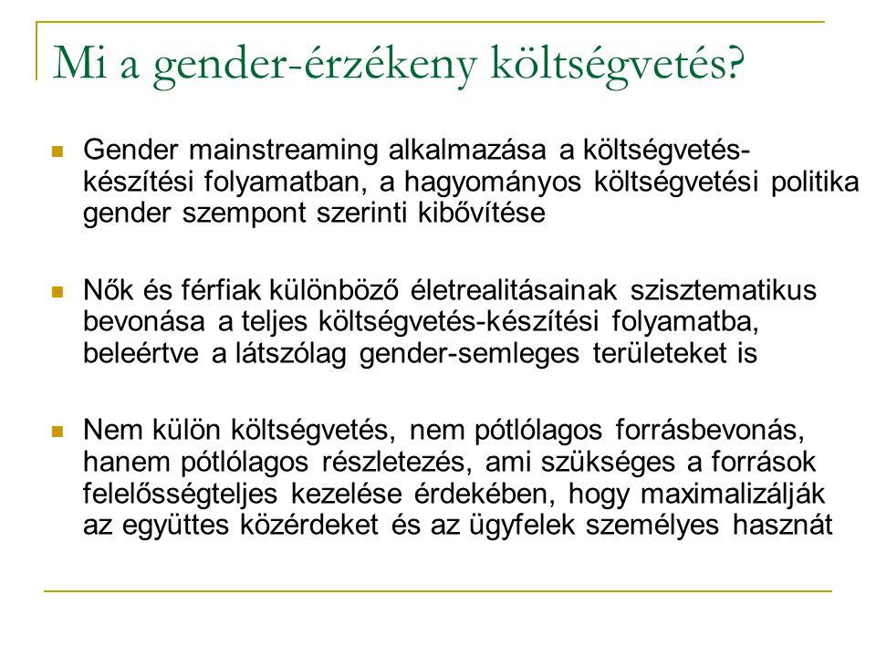 Mi a gender-érzékeny költségvetés