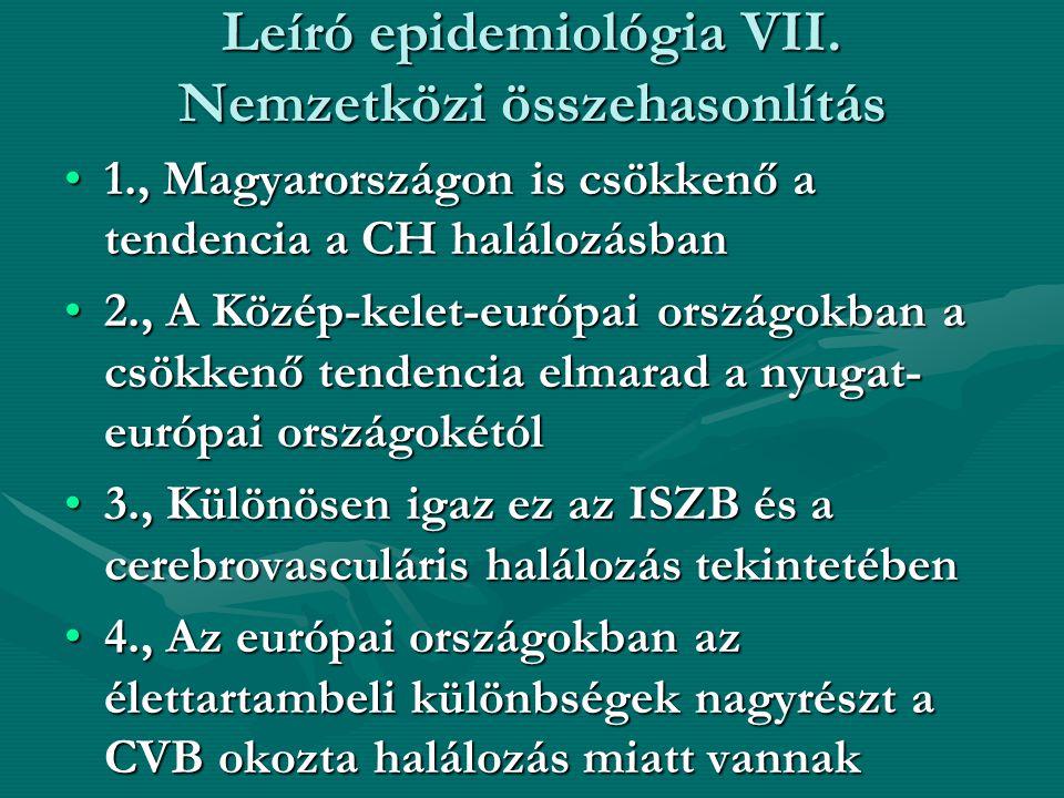 Leíró epidemiológia VII. Nemzetközi összehasonlítás