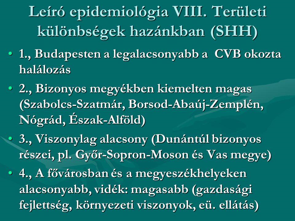 Leíró epidemiológia VIII. Területi különbségek hazánkban (SHH)