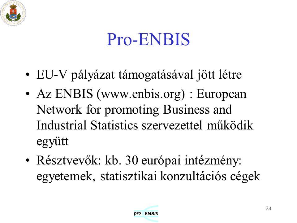 Pro-ENBIS EU-V pályázat támogatásával jött létre