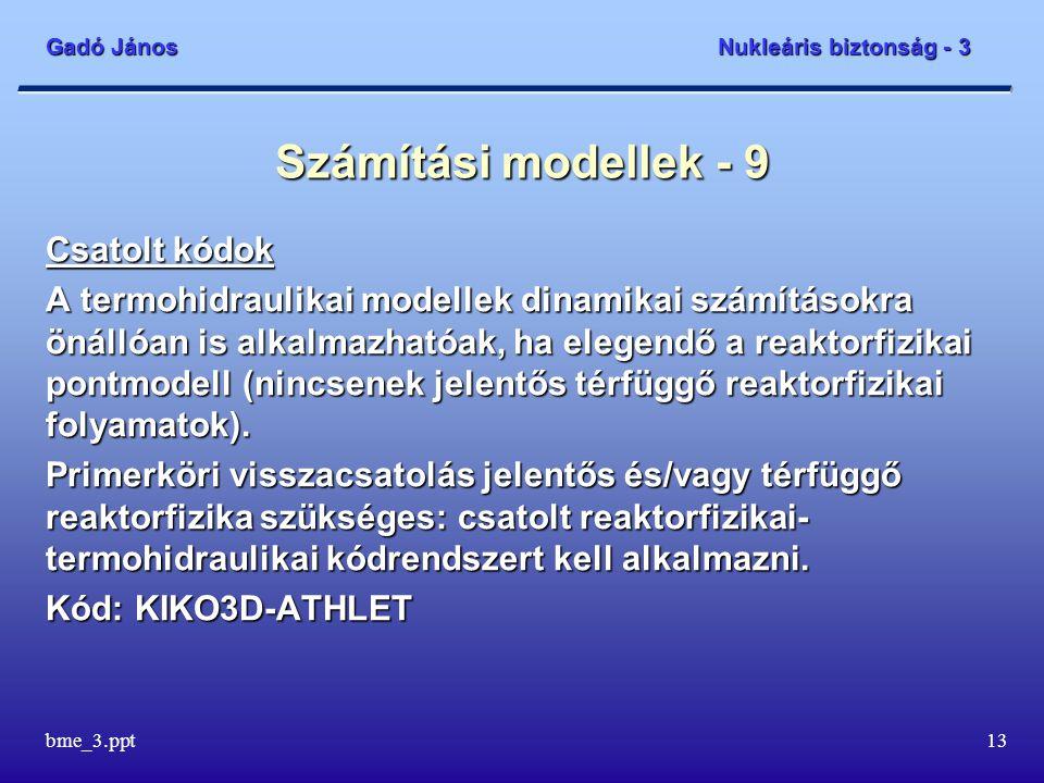 Számítási modellek - 9 Csatolt kódok