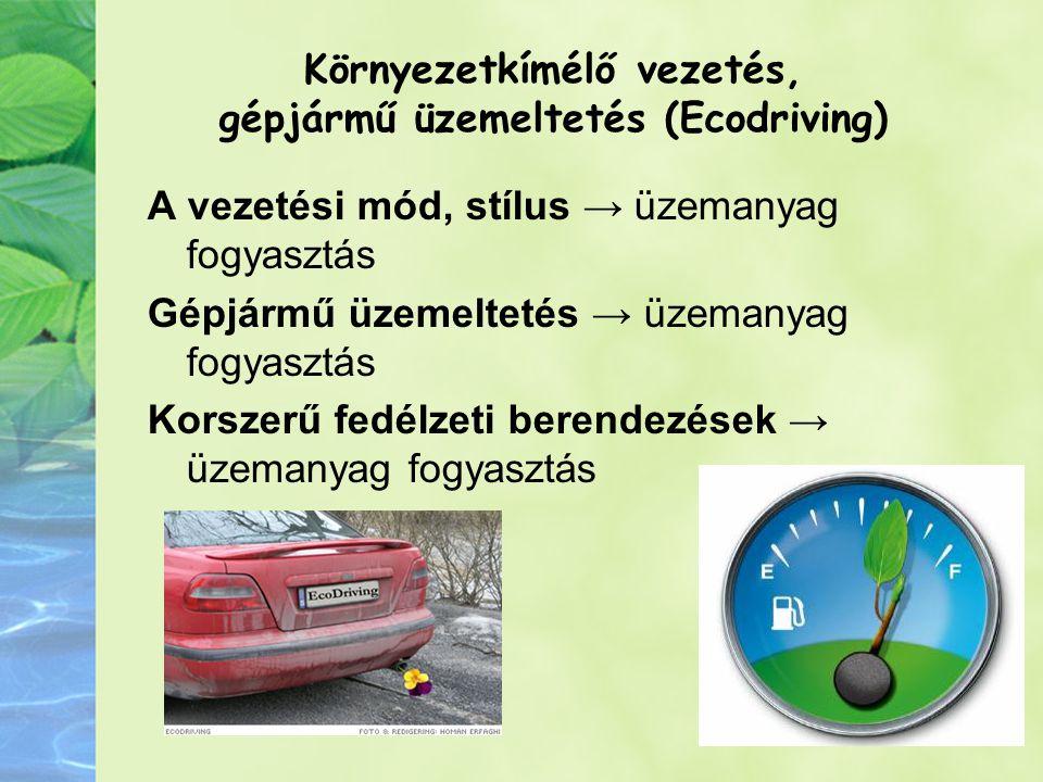 Környezetkímélő vezetés, gépjármű üzemeltetés (Ecodriving)