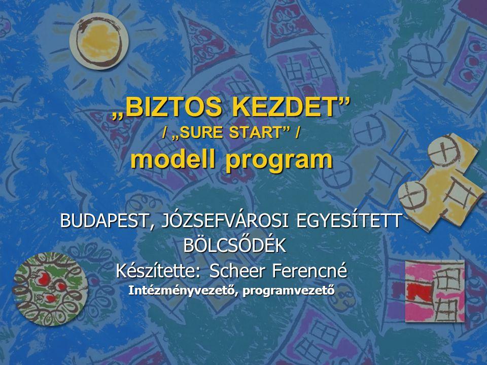 """BIZTOS KEZDET / ""SURE START / modell program"