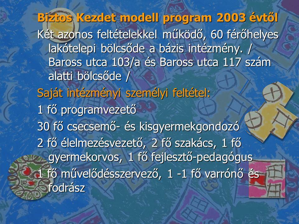 Biztos Kezdet modell program 2003 évtől