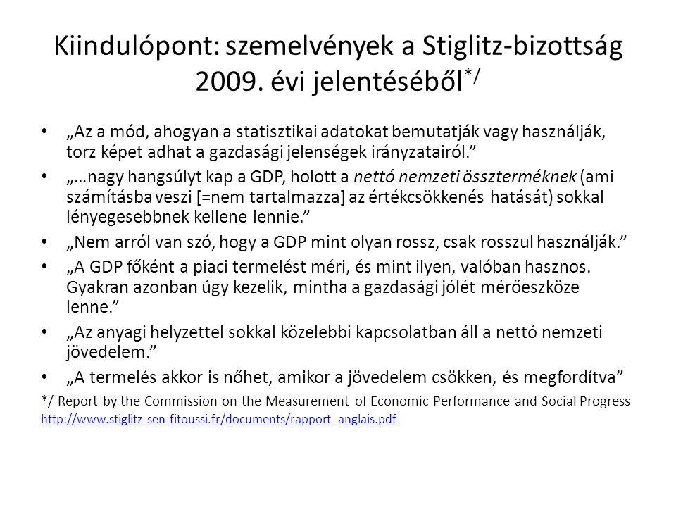Kiindulópont: szemelvények a Stiglitz-bizottság 2009. évi jelentéséből