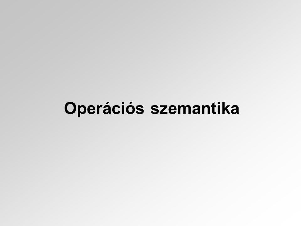 Operációs szemantika