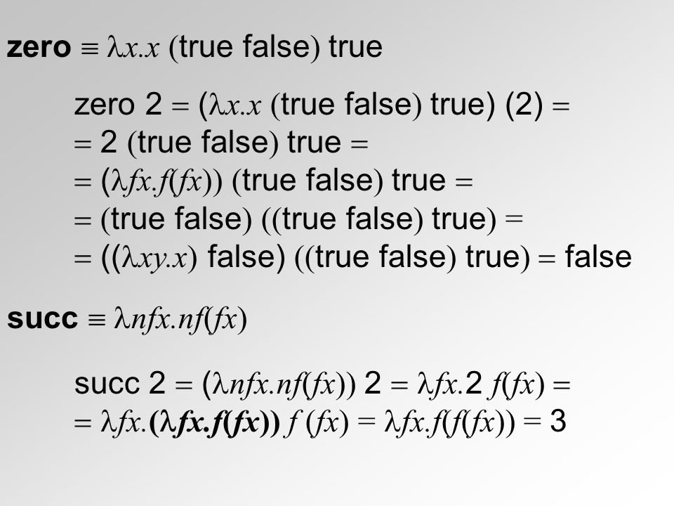 zero  x.x (true false) true