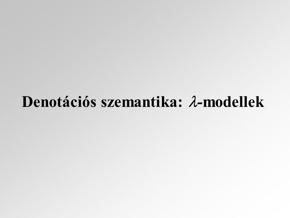 Denotációs szemantika: -modellek