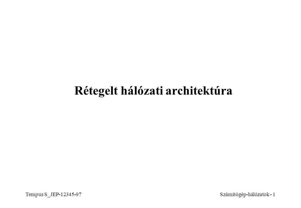 Rétegelt hálózati architektúra