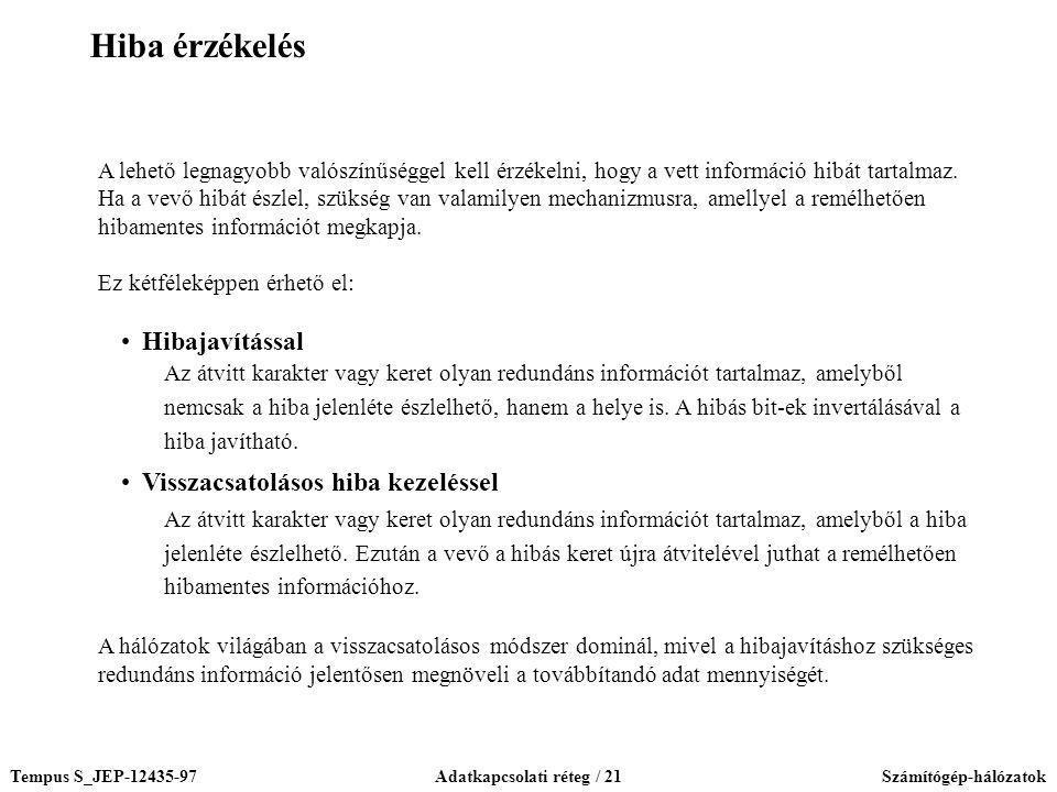 Adatkapcsolati réteg / 21