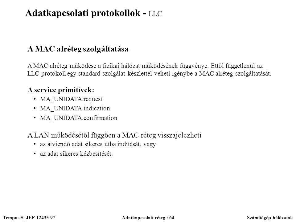 Adatkapcsolati protokollok - LLC