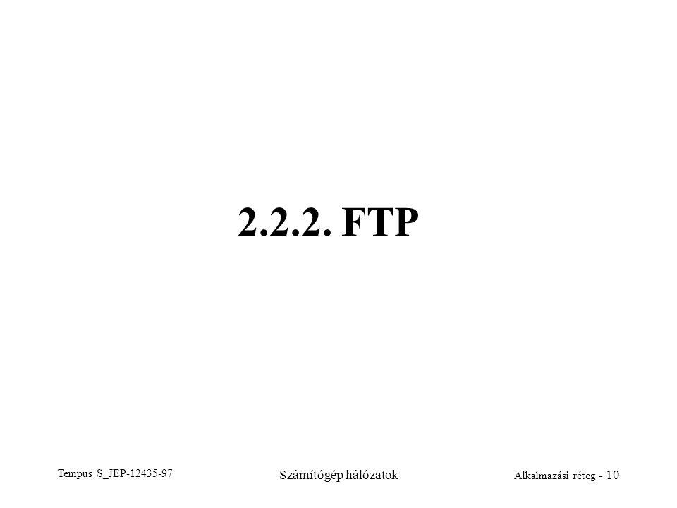 2.2.2. FTP Tempus S_JEP-12435-97 Számítógép hálózatok