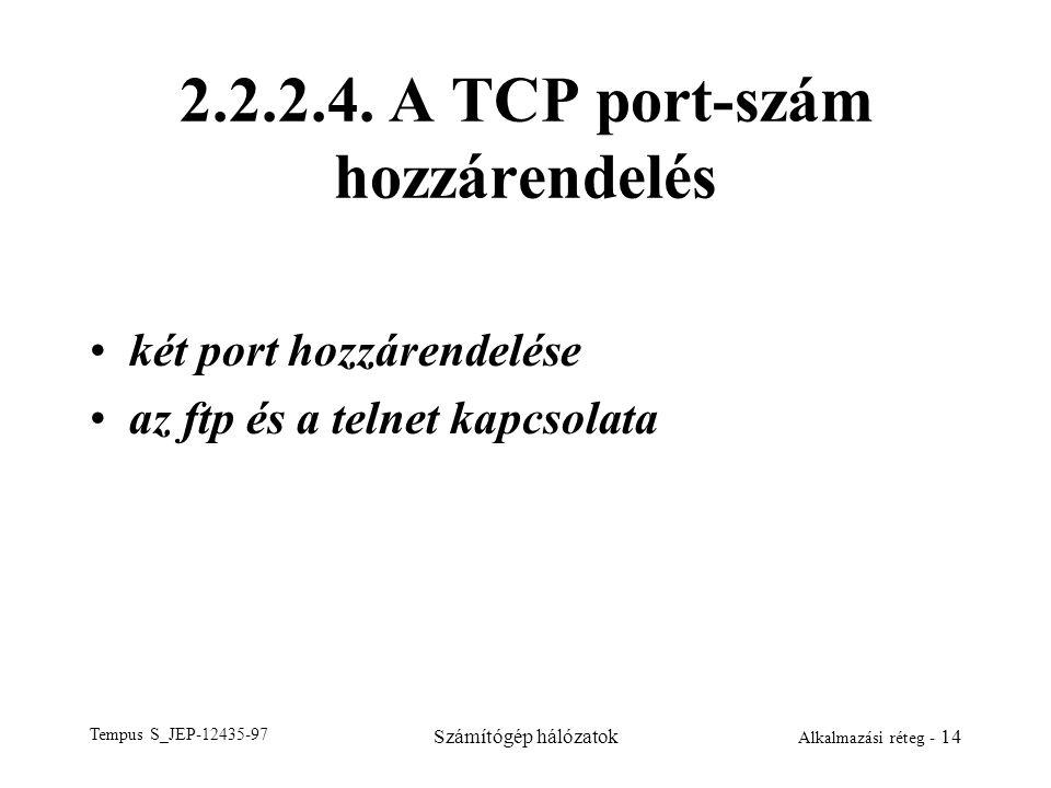 2.2.2.4. A TCP port-szám hozzárendelés